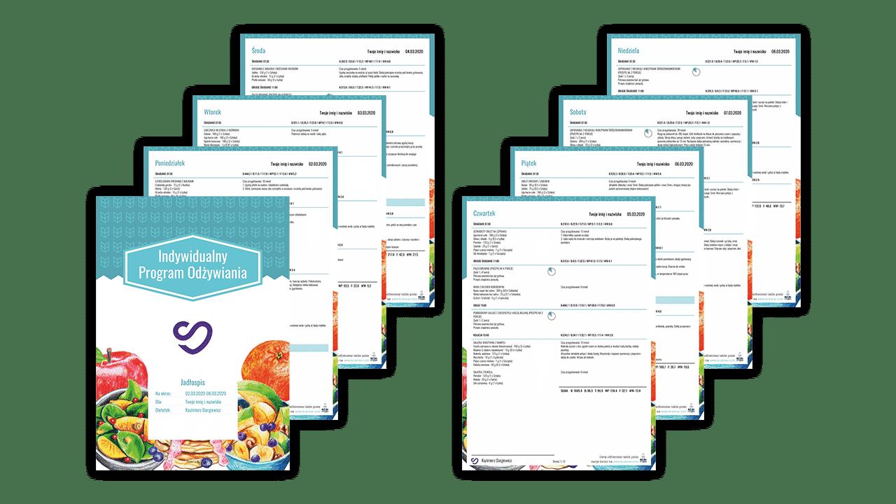 dieta indywidualna online przejrzysty jadłospis w pdf