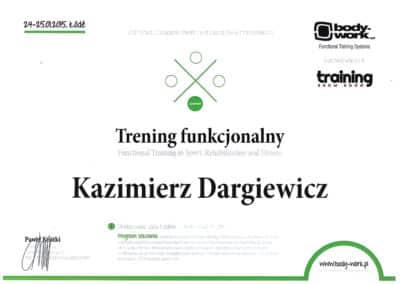Kazimierz Dargiewicz Certyfikat 1