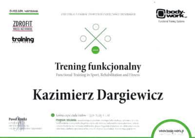Kazimierz Dargiewicz Certyfikat 2