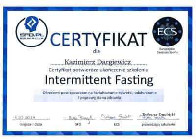 Kazimierz Dargiewicz Certyfikat 4