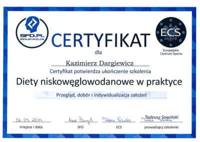 Kazimierz Dargiewicz Certyfikat 5
